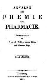 Annalen der Chemie und Pharmacie: Bände 11-12;Bände 87-88