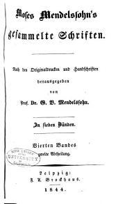 Moses Mendelssohns gesammelte schriften: Band 4,Ausgabe 2