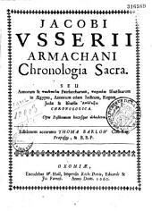 Chronologia sacra... editionem accurante Thoma Barlow