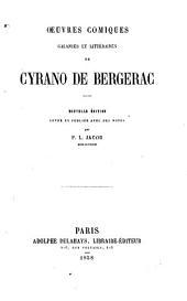 Oeuvres comiques galantes et littéraires de Cyrano de Bergerac