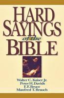 Hard Sayings of the Bible PDF