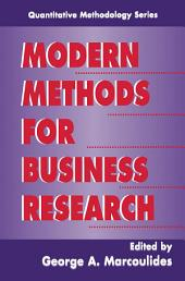 Modern Methods for Business Research