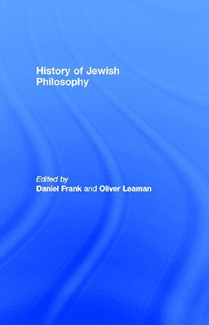History of Jewish Philosophy