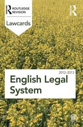 English Legal System Lawcards 2012-2013: Edition 8