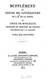 Lycée ou cours de littérature ancienne et moderne: Volume17