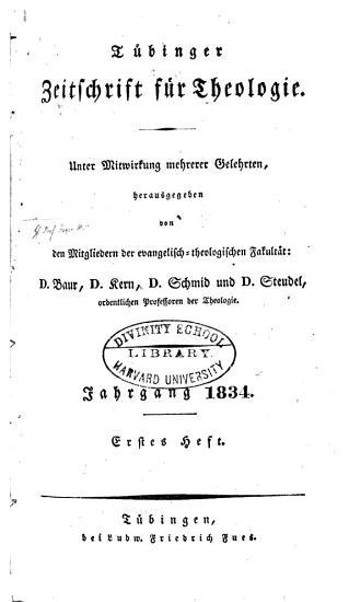T  binger Zeitschrift f  r Theologie PDF