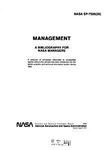 NASA SP 7500