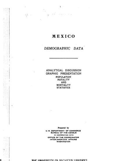 Mexico  Demographic Data PDF