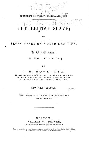 The British Slave  Or  Seven Years of a Soldier s Life