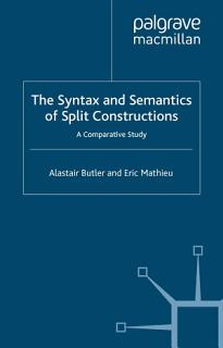 The Syntax and Semantics of Split Constructions Book