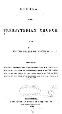 Records of the Presbyterian Church in the United States of America PDF