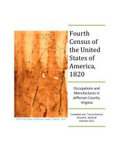 Fourth Census of the United States of America, 1820: Occupations and Manufactures in Jefferson County, Virginia