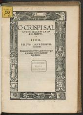 Bellum Catilinarium Item Bellum Iugurthinum
