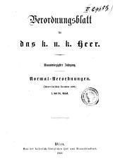 Verordnungsblatt für das k. u. k. Heer: Normal-Verodnungen, Band 41