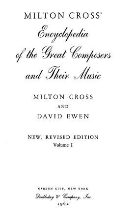 Encyclopedia of the Great Composers and Their Music PDF