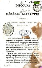 Discours du général Lafayette relativement au règlement définitif du budget 1826 ; séance du 23 juin 1828