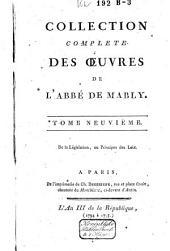 Collection complète des oeuvres de l'abbé de Mably: Volume9