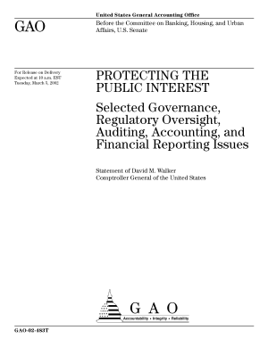 Protecting the public interest selected governance  regulatory oversight  auditing  accounting  and financial reporting issues PDF