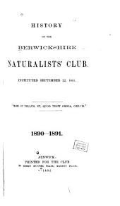 History of the Berwickshire Naturalists' Club, Instituted September 22, 1831: Volume 13