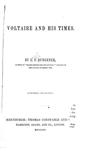 Download Voltaire and His Times Book