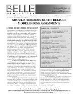 Should Hormesis Be the Default Model in Risk Assessment?