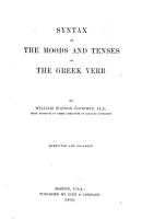 Syntax of the Moods and Tenses of the Greek Verb PDF