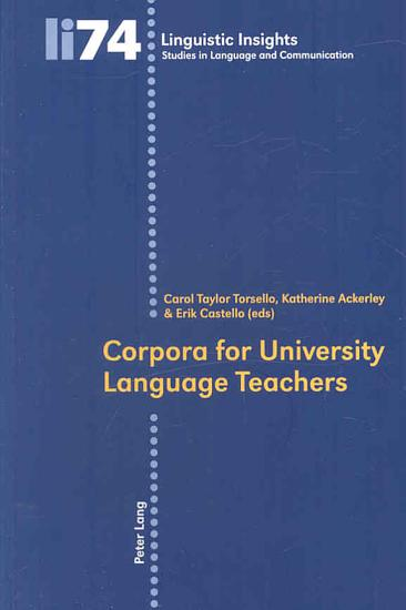 Corpora for University Language Teachers PDF