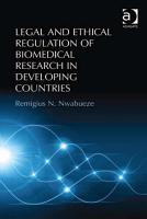 Legal and Ethical Regulation of Biomedical Research in Developing Countries PDF