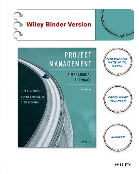 Project Management A Managerial Approach 9th Edition