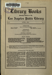 Library Books: Monthly Bulletin of the Los Angeles Public Library, Volume 9, Issue 4