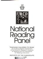 Teaching Children to Read   an Evidence based Assessment of the Scientific Research Literature on Reading and Its Implications for Reading Instruction   Reports of the Subgroups PDF