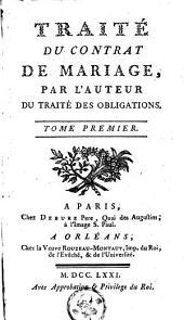 Traité du contrat de mariage: Volume1