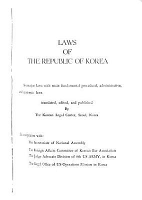 Laws of the Republic of Korea PDF