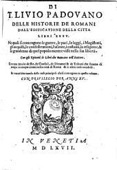 Delle Historie de Romani dall edificatione della citta Libri 35 (tradotti da Francesco Sansovino).