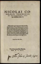 De revolutionibus orbium coelestium: libri 6