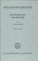Altt  rkische Grammatik PDF