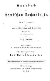 Das Beleuchtungswesen: Band 1,Teil 2,Ausgabe 1