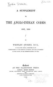 The Anglo-Indian Codes: Volume 2
