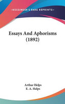 Essays and Aphorisms (1892)