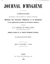 Journal d'hygiène: Climatologie. Stations hivernales et maritimes, eaux minérales, épidémiologie