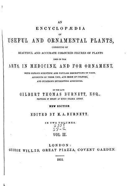 An Encyclopaedia Of Useful And Ornamental Plants