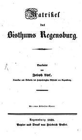 Matrikel des Bisthums Regensburg