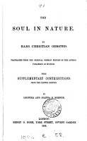 The soul in nature  tr  by L  and J B  Horner PDF