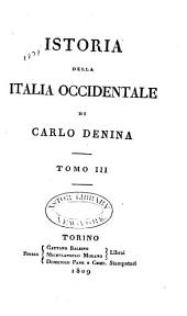 Istoria della Italia occidentale: Volume 3