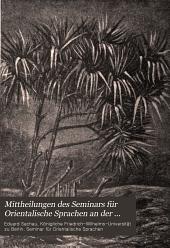 Mittheilungen des Seminars für Orientalische Sprachen an der Königlichen Friedrich Wilhelms-Universität zu Berlin: Band 4