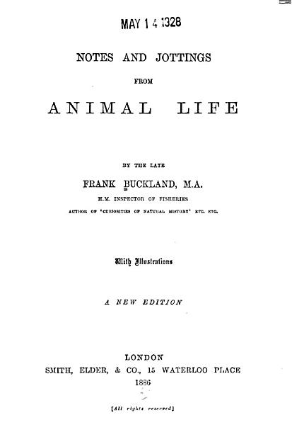 Download Notes and Jottings from Animal Life Book