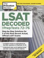 LSAT Decoded  PrepTests 72 76  PDF