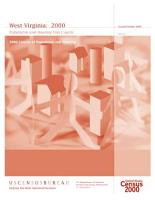 Census of population and housing  2000   West Virginia Population and Housing Unit Counts PDF