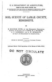 Soil survey of Lamar County, Mississippi