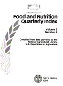 Food and Nutrition Quarterly Index PDF